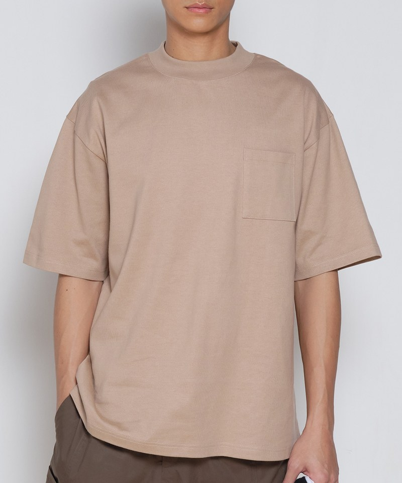 COP0045 中高領短袖重磅TEE