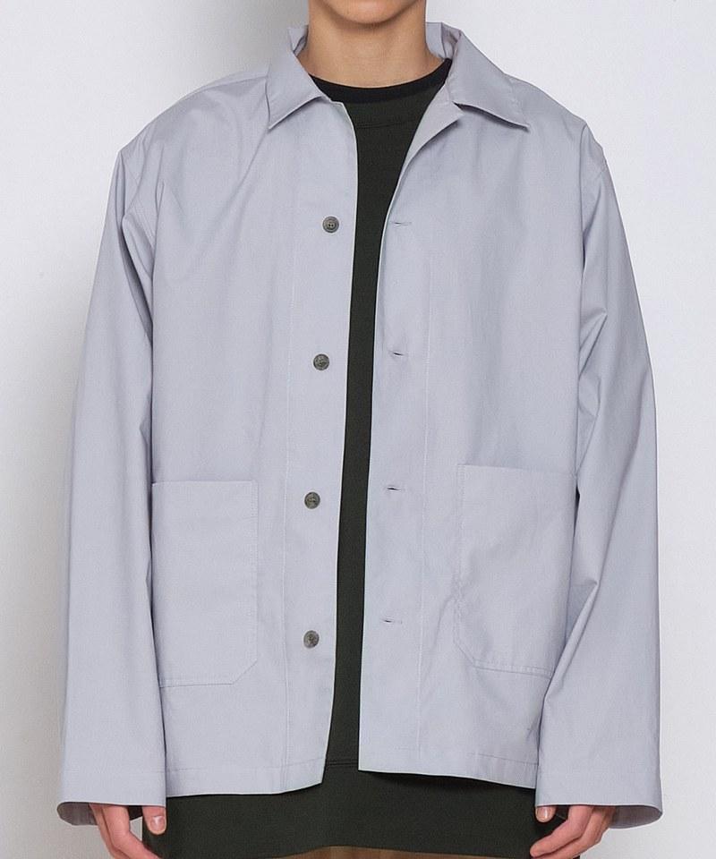 防潑水高密棉質開領釦式外套