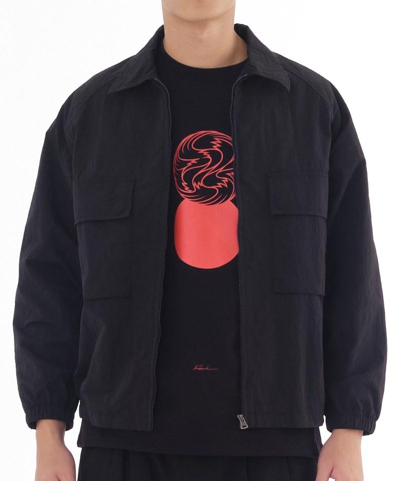 COP1186 防潑水尼龍教練外套