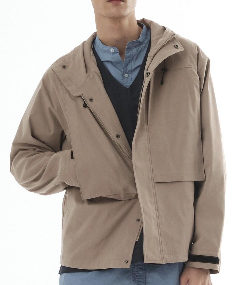 COP1191 防潑水五口袋連帽外套
