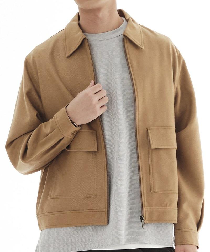 COP1192 毛料大口袋外套