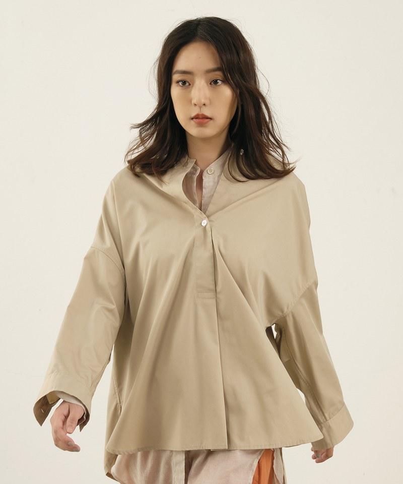 COP33138 【好著】女款無領套頭襯衫