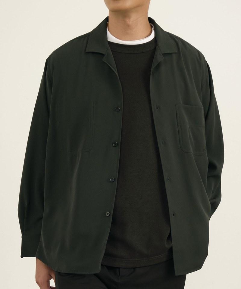 COP33139 【好著】垂墜感開領長袖襯衫