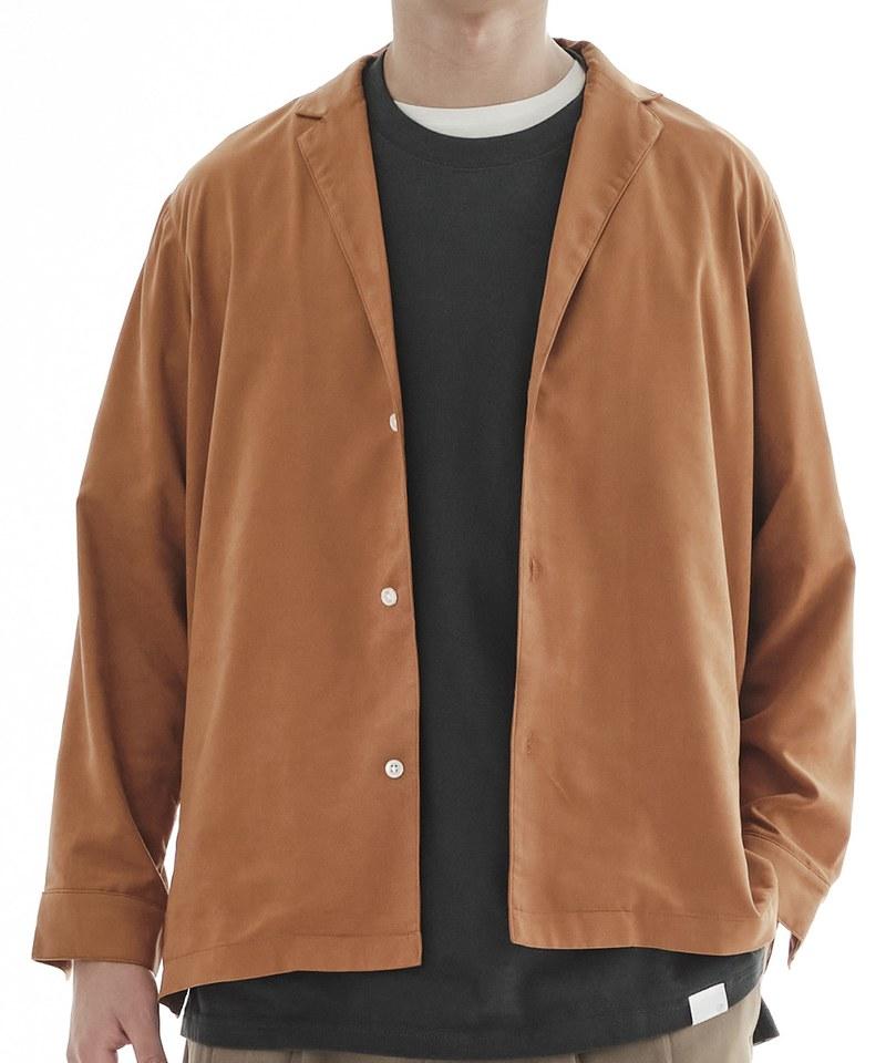 COP33145 桃絨西裝領襯衫
