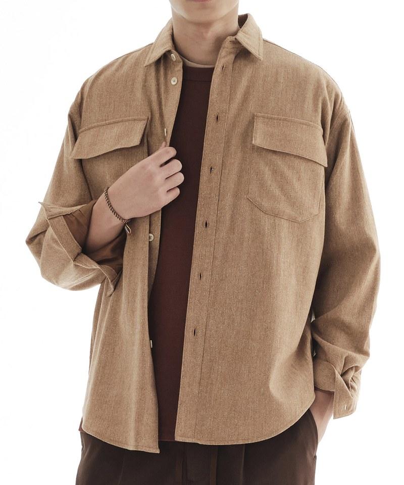 COP33146 麻花毛料寬版Outershirt