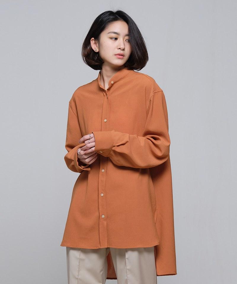 COP33151 垂墜長版襯衫