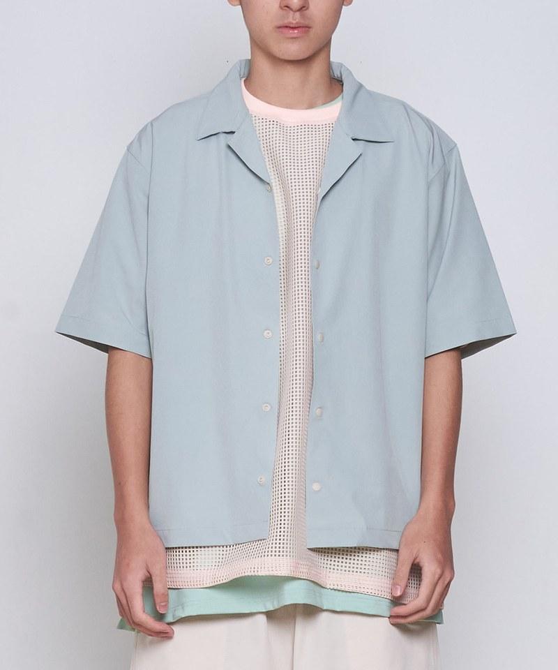 COP33154 吸濕快乾寬鬆開領襯衫