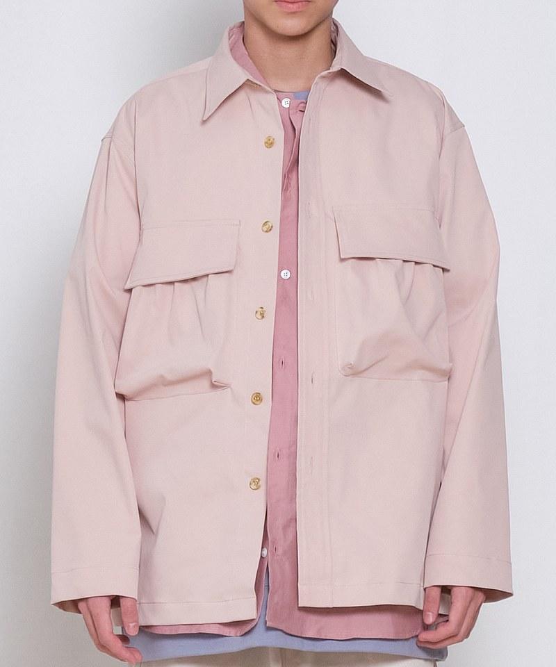 防潑水立體口袋襯衫