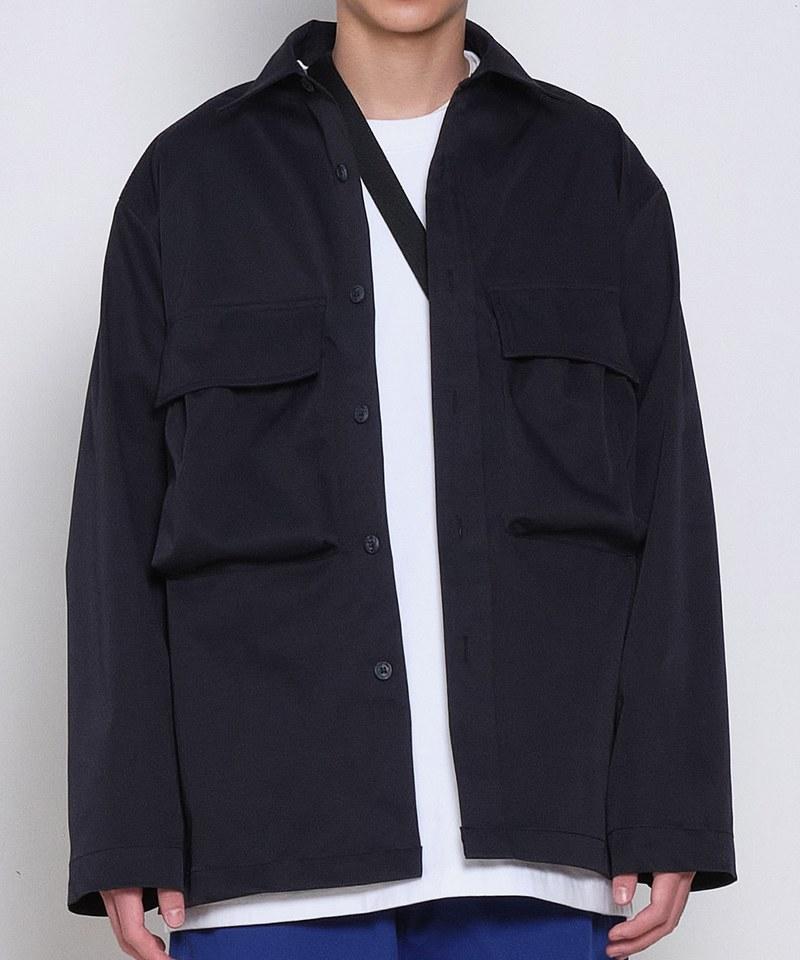 COP33159 防潑水立體口袋襯衫