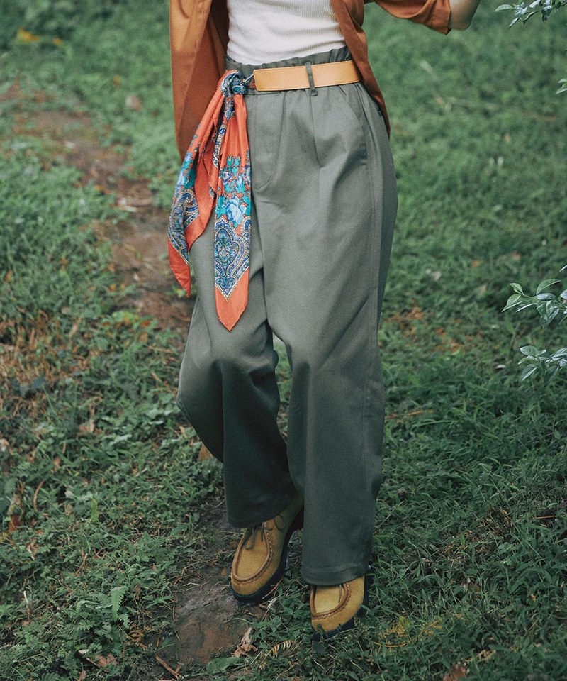 COP3568 女款棉質打褶九分褲