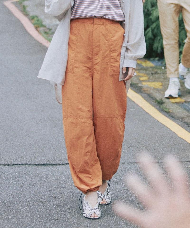 COP4055 女款尼龍軍風寬版長褲