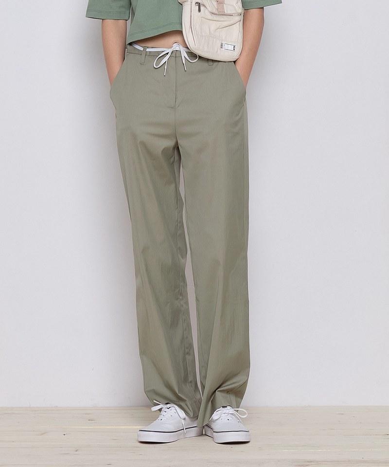 女款高腰直筒褲