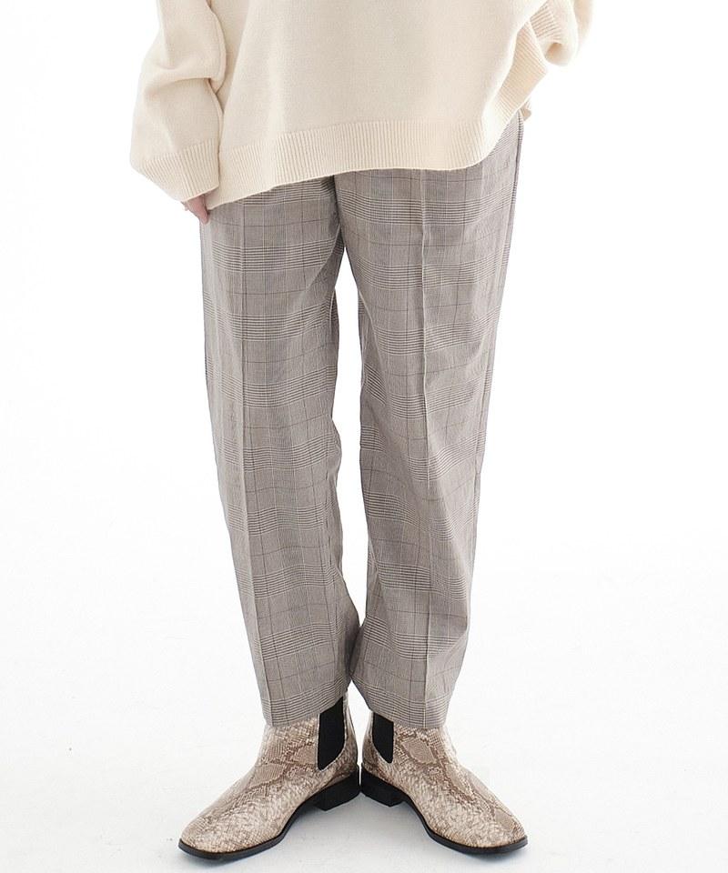 CRV3509 mouggan x plain-me 女款格紋Billy Pants比例神褲
