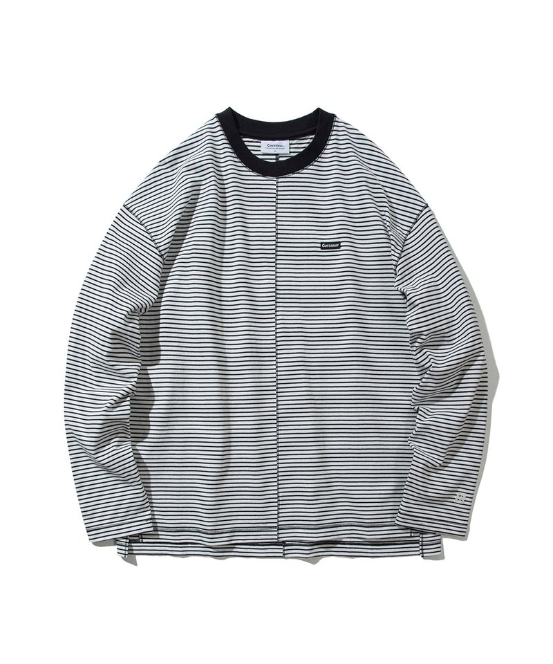 STRIPE DIVISION LONG SLEEVE 圓領長TEE
