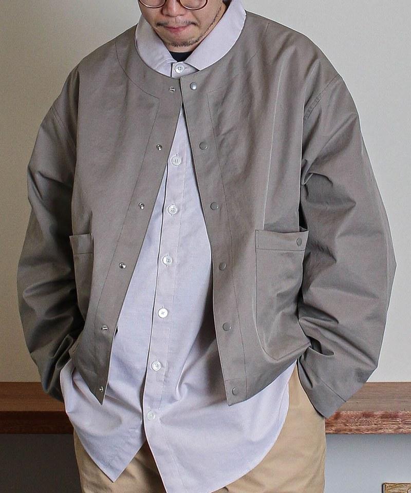 DRNM for PLNM No Collar Jacket 聯名無領外套