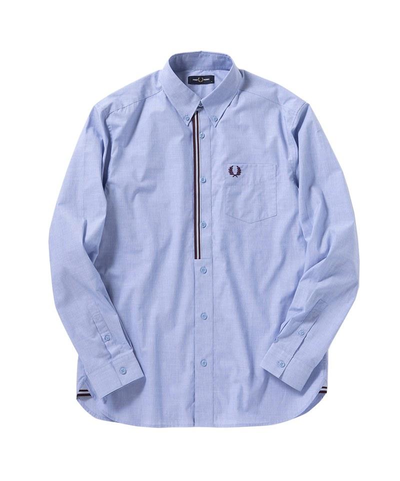 FRP99105 SM9072 TAPED PLACKET SHIRT 前襟羅紋滾邊長袖襯衫