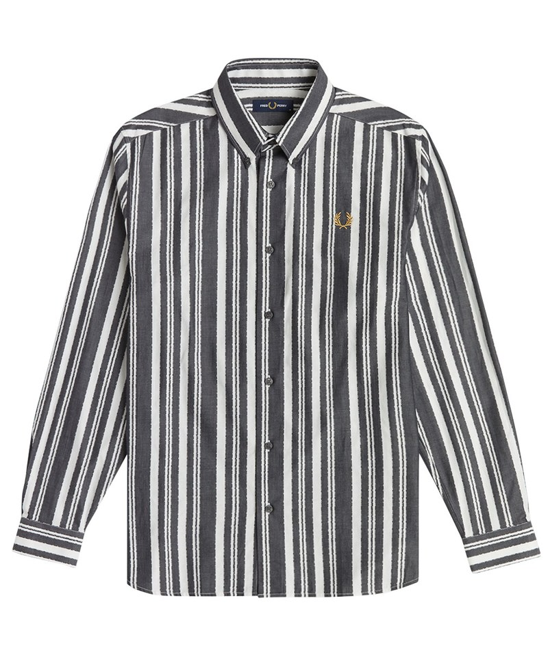 FRP99119 M1541 MONOCHROME STRIPE SHIRT 單色條紋長袖襯衫