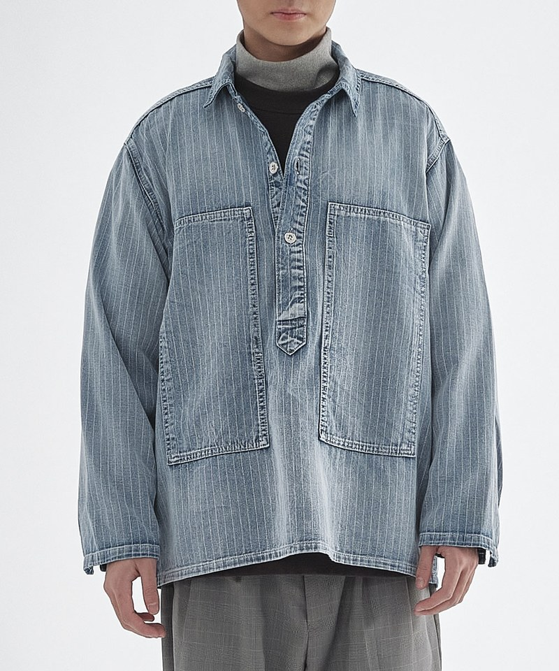 HOU0234 40807 WABASH P/O SHIRT 拔染套頭襯衫