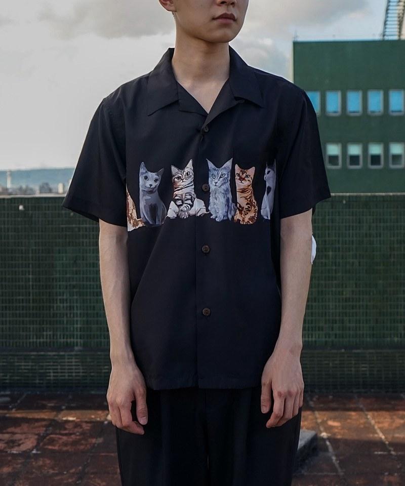 HOU0240 40836 ALOHA SHIRT (CAT) 夏威夷襯衫
