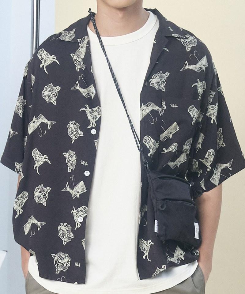 JSD0212 JIKKAKU 工房十鶴印花襯衫