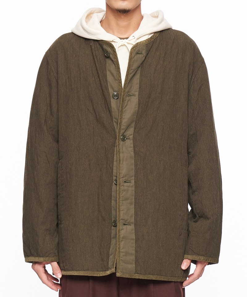 JSD1109 TWEED QUILT 粗呢內裡外套