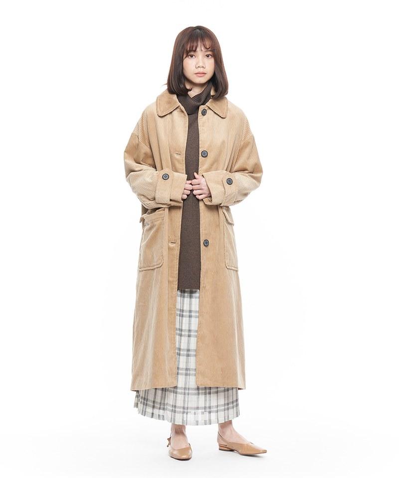 燈芯絨寬版大衣外套