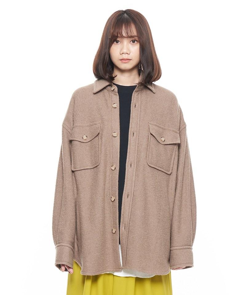 毛料 CPO 襯衫式外套