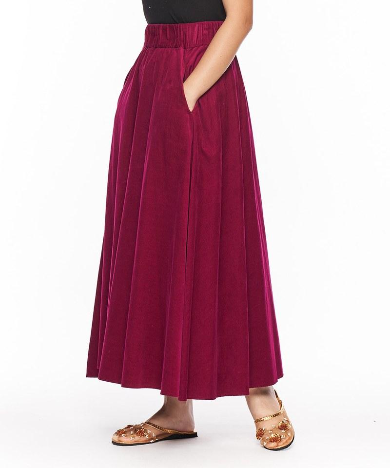 燈芯絨長裙