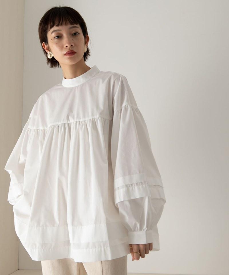 KBF0013 背面蝴蝶結蓬鬆罩衫