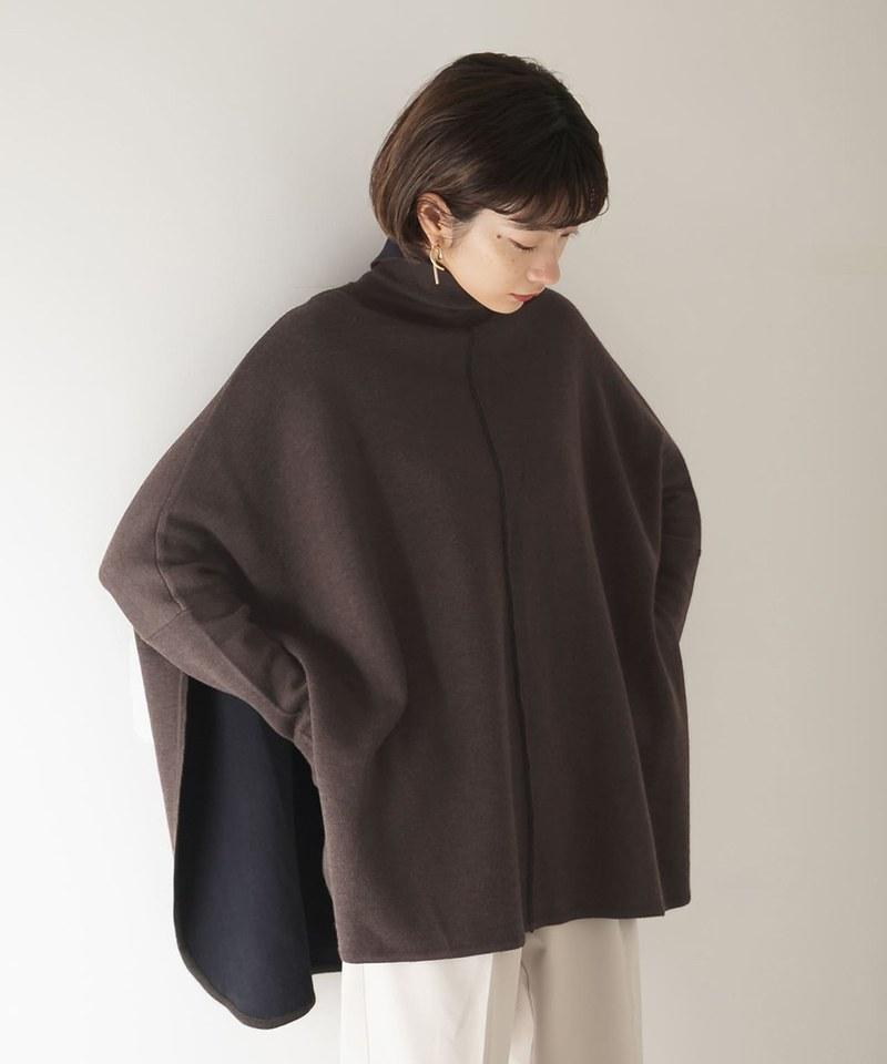 KBF0309 雙面穿斗篷針織衫