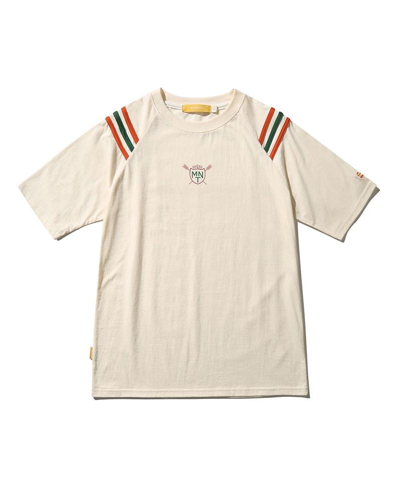 純棉短TEE 3-Line Raglan