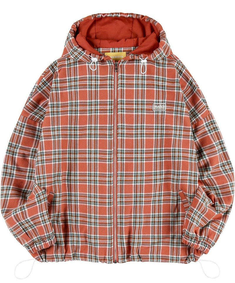 MBT1109 Country Check Hood Jumper 格紋連帽外套