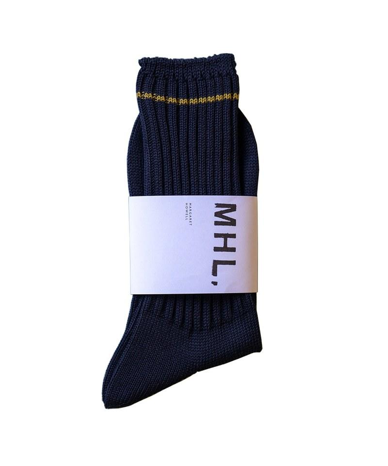 MHLM2304 CONTRAST STRIPE SOCK 日本製長襪