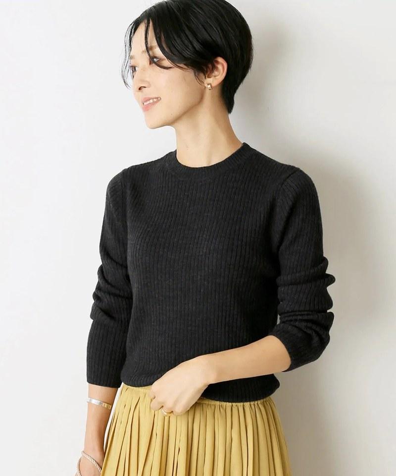 極細羊毛圓領衫