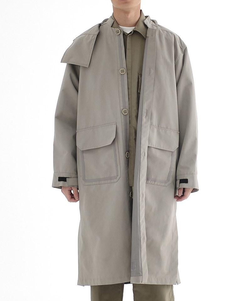 WISDOM x plain-me Ctrl Alt Del Detachable Trenchcoat 長大衣