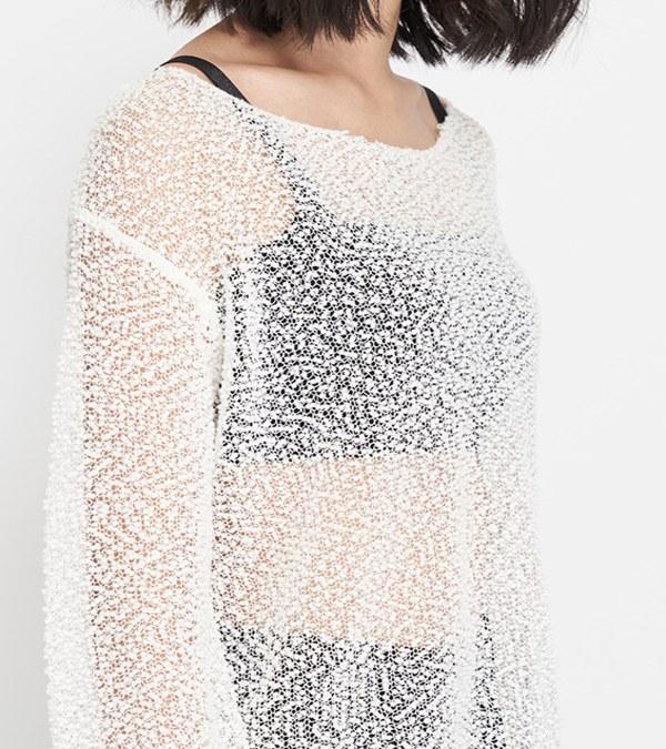 JSD0021 雪花網格長袖上衣