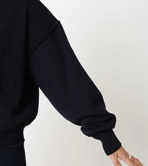 JSDW0701 混紡短版羊毛套頭衫